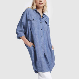 Alex Mill Chambray Military Shirtdress