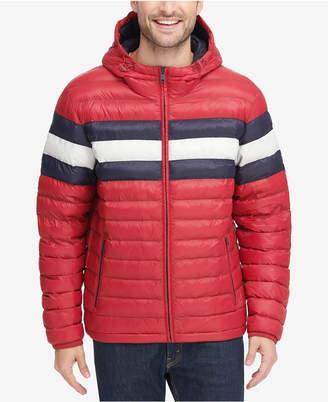 Tommy Hilfiger Men's Big & Tall Colorblocked Hooded Ski Coat