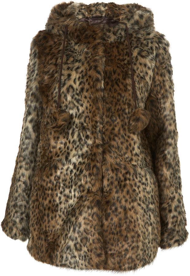 Animal Pom Pom Duffle Coat