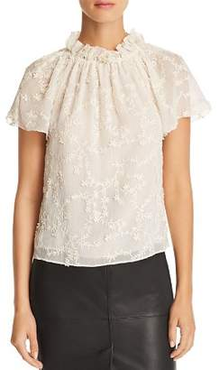 Rebecca Taylor Ellie Embroidered Top