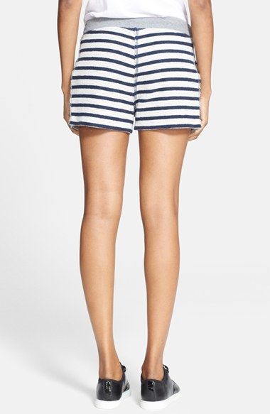Alexander Wang Stripe French Terry Shorts