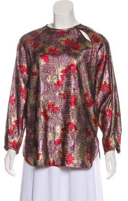 Isabel Marant Metallic Long Sleeve Top