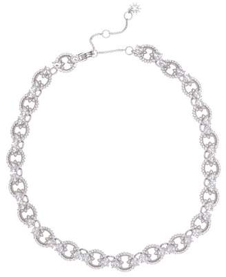 Marchesa CZ Ring Link Collar Necklace