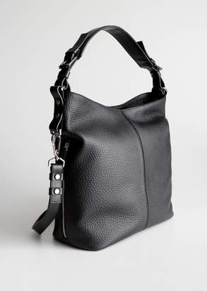 And other stories Grain Leather Hobo Bag