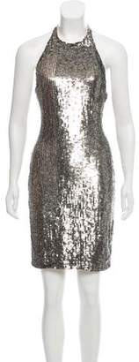 Alice + Olivia Sequined Halter Dress w/ Tags