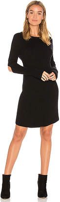 Monrow Elbow Slash Sweater Dress