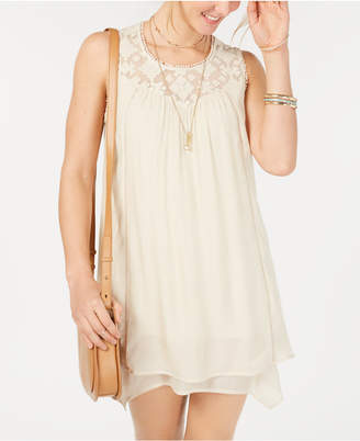 Style&Co. Style & Co Lace-Yoke Handkerchief-Hem A-Line Dress, Created for Macy's