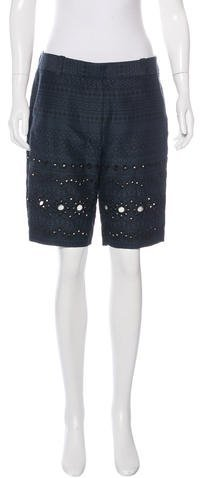 3.1 Phillip Lim 3.1 Phillip Lim Silk Embroidered Eyelet Shorts