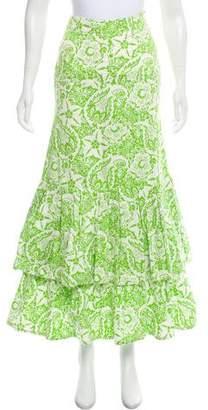Oscar de la Renta Floral Maxi Skirt