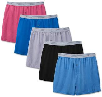 """Fruit of the Loom byFruit The Loom Men's 5-Pack Soft Stretch Knit Boxer - Colors May Vary (, 32-34"""" Waist)"""