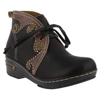 Spring Step L'Artiste by Leather Booties - Cookie