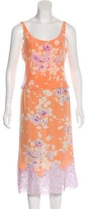 Valentino Floral Knee-Length Skirt Set