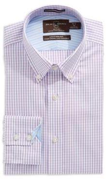 Black Brown 1826 Slim Fit Button-Down Dress Shirt