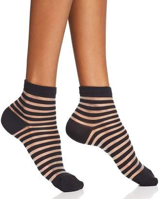 Kate Spade Sheer Stripe Ankle Socks