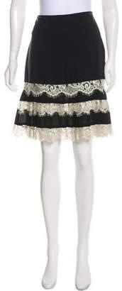 Nicole Miller Silk Knee-Length Skirt