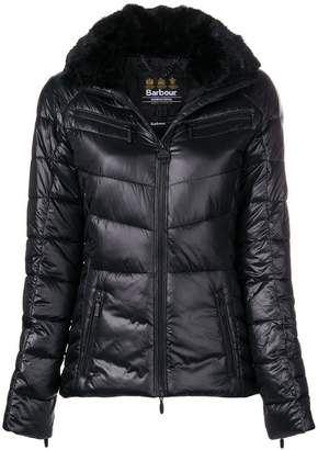 Barbour furry neck padded jacket