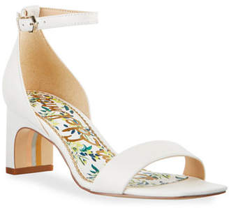 c097fb353 Sam Edelman White Leather Straps Women s Sandals - ShopStyle
