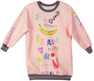 Hannah Banana Graphic Banana Scuba Dress, Size 7-14