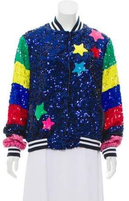 Mira Mikati Sequined Bomber Jacket w/ Tags