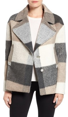 Women's Laundry By Shelli Segal Plaid Swing Coat $158 thestylecure.com