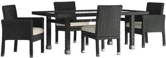 HomeVance Outdoor HomeVance Ravinia Wicker Patio Dinning Table & Chair 5-piece Set