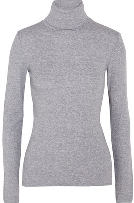 Splendid - Supima Cotton And Modal-blend Jersey Turtleneck Top - Light gray $50 thestylecure.com