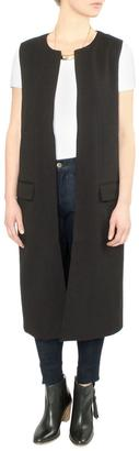 Greylin Black Long Vest $128 thestylecure.com