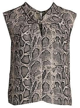 f0300b69531ab Rebecca Taylor Women s Snake Print Silk Blouse