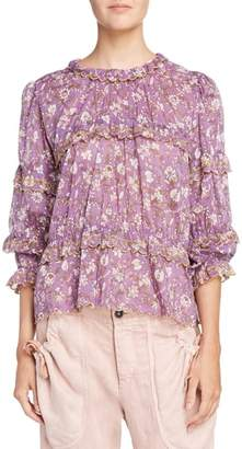 Etoile Isabel Marant Moxley Print Cotton Top