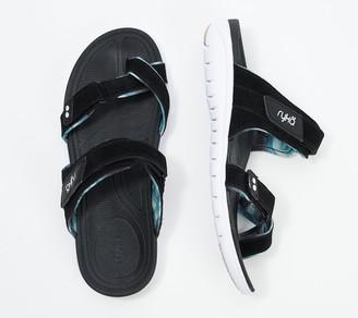 Ryka Suede Slide Toe-Loop Sandals - Skye