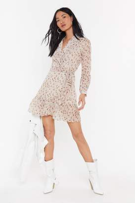 Nasty Gal Womens Plant Be Stopped Floral Shirt Dress - Cream - L