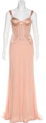 Versace Satin Bustier Gown