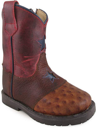 SMOKY MOUNTAIN Smoky Mountain Kid's Autry Side Zipper Crackle Leather Cowboy Boot Toddler