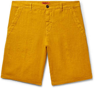 Barena Linen-Blend Shorts - Men - Saffron