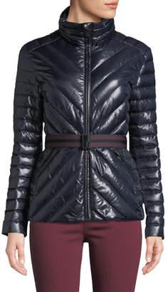 Hunter Refined Gloss Puffer Coat w/ Belt