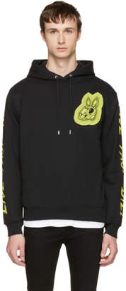 McQ Black Bunny Be Here Now Clean Hoodie