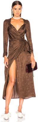 ATTICO Jacquard Maxi Dress