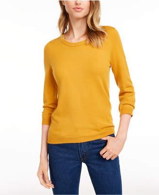 Maison Jules Crewneck 3/4-Sleeve Sweater