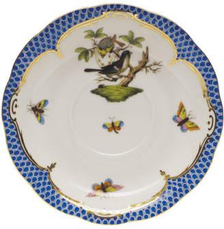 Herend Rothschild Bird Blue Border Saucer 1