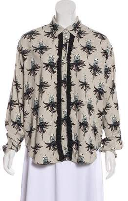 Markus Lupfer Printed Button-Up Top