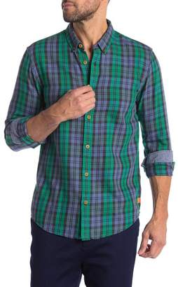 Scotch & Soda Classic Check Flannel Regular Fit Shirt