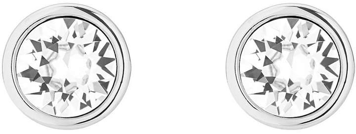 Logo Stud Earrings Made With Swarovski Elements – Silver-Tone