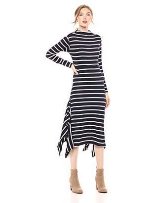 Ella Moss Women's Rachel Stripe Mock Neck Dress