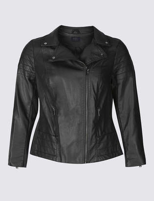M&S CollectionMarks and Spencer CURVE Faux Leather Biker Jacket