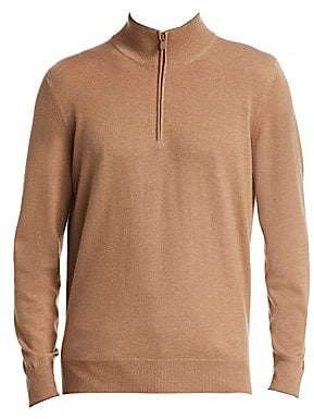 Brunello Cucinelli Men's Cashmere Half Zip Sweater