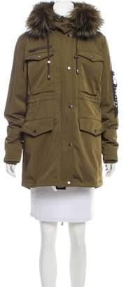 Jocelyn Fur-Trimmed Hooded Coat