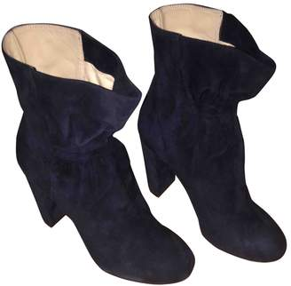 Chloé Blue Suede Ankle boots