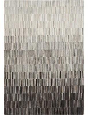 Greyleigh Earlene Cowhide Light Gray/Black Area Rug Greyleigh