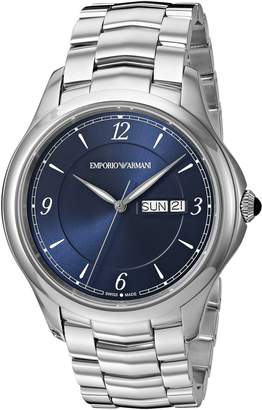 Emporio Armani Swiss Made Men's 'Esedra' Quartz Stainless Steel Casual Watch, Color:-Toned (Model: ARS8602)