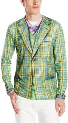 Faux Real Men's Plaid Suit